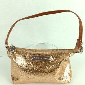 Betsey Johnson wristlet rose gold purse